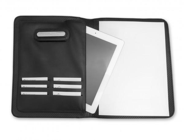 funda para tablet y blog de notas de cuero personalizado tablet