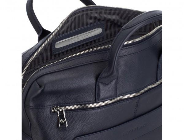 maletín de piel azul personalizado