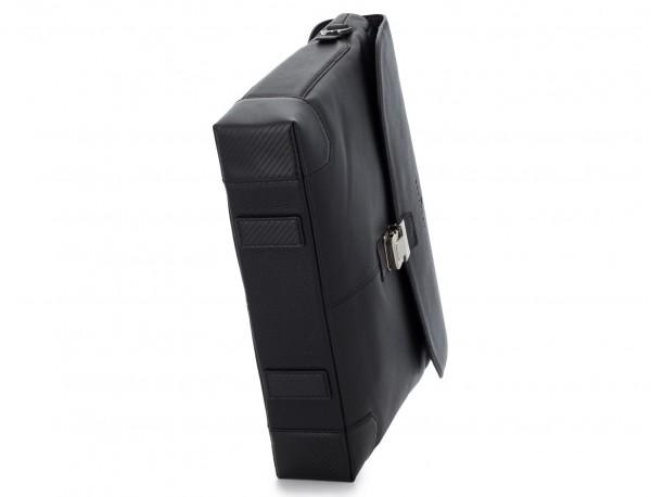 leather flap briefbag in black base