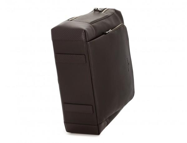 Cartella grande 2 scomparto in pelle per laptop in marrone base