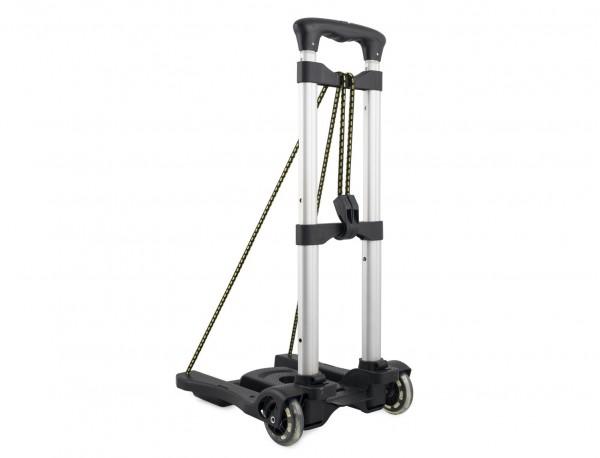 Foldable aluminium luggage cart for bags back