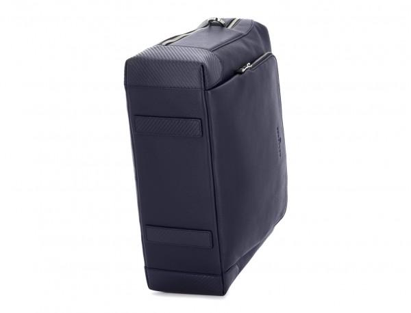 travel briefbag in leather blue base