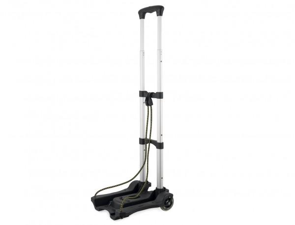 Foldable aluminium luggage cart for bags open