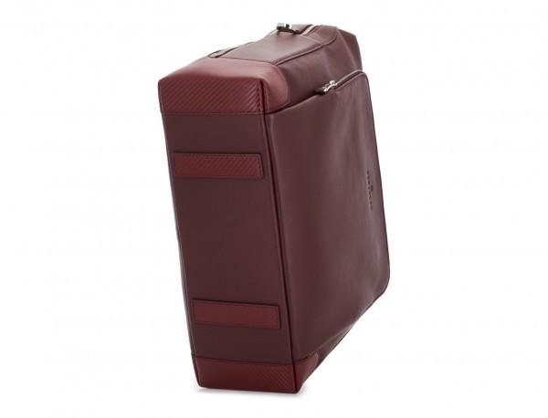 travel briefbag in leather blue burgundy base