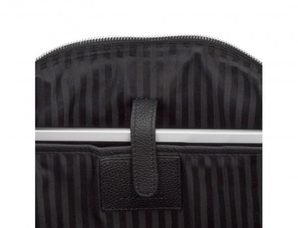 portadocumentos de piel con bandolera color negro portátil
