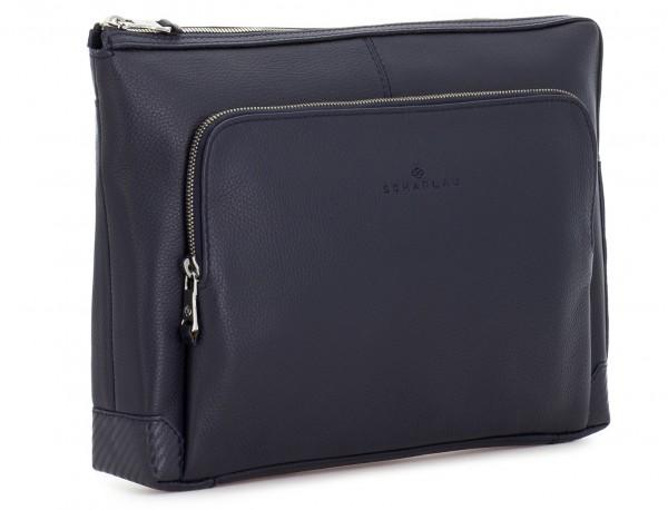 leather portfolio in blue side