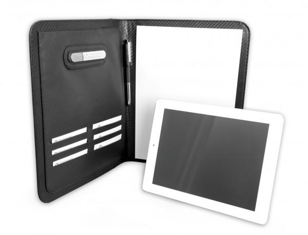 funda para tablet y blog de notas de cuero personalizado lifestyle