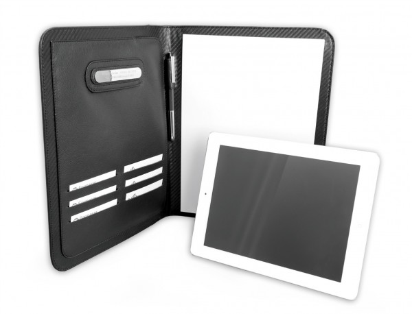 Leather letterpad A4 for business meetings with tablet compartment tablet