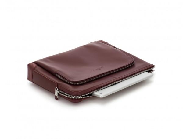 leather portfolio in burgundy computer