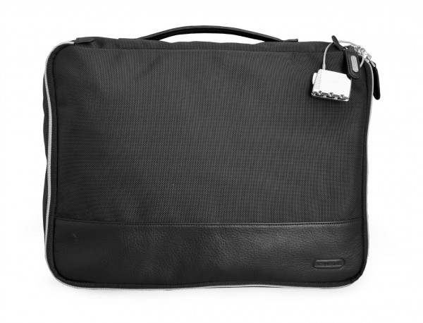 Grande borsa multiuso organizer con tasca interna con cerniera in nylon balistico front