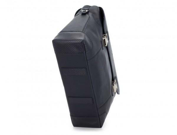 maletín de cuero con solapa azul base