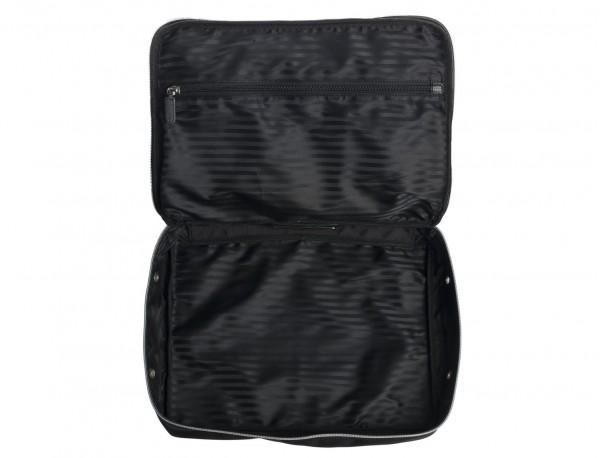 Grande borsa multiuso organizer con tasca interna con cerniera in nylon balistico open