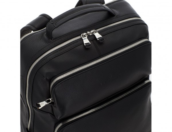 leather backpack in black detail