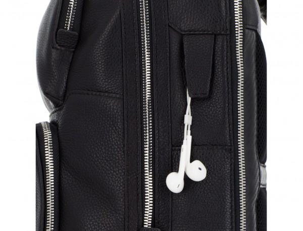 leather backpack in black side