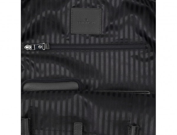 leather backpack in black functionality