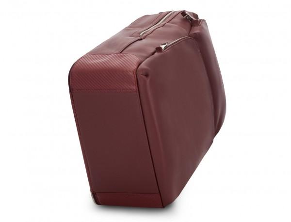 leather backpack in burgundy base