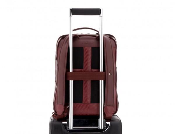 mochila de piel burdeos trolley