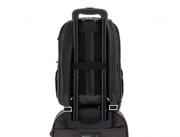 leather backpack black trolley