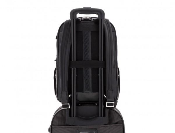 mochila de cuero negra trolley