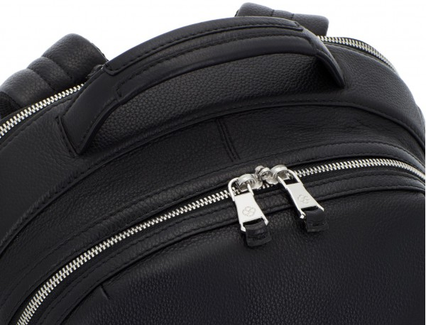 leather backpack black handle