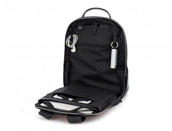 mochila de cuero negra portátil