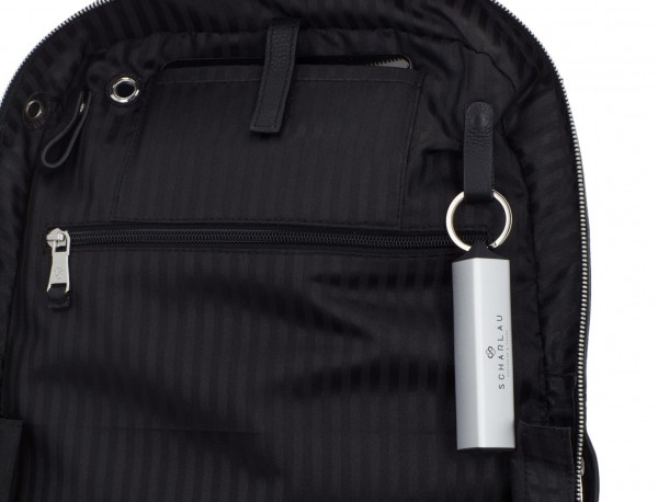 leather backpack black functional