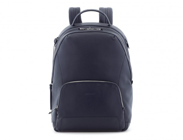leather backpack blue front