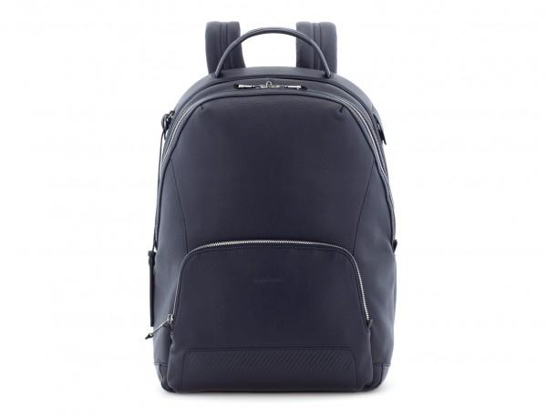 mochila de cuero azul frontal