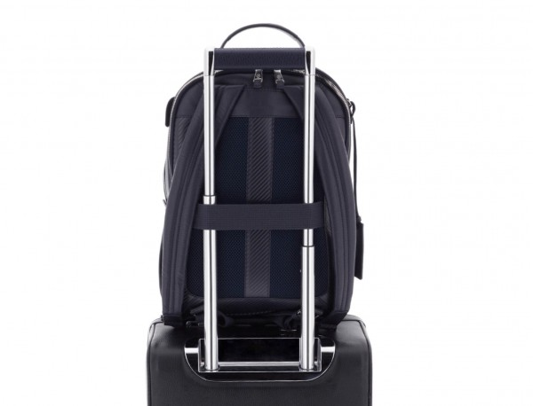 leather backpack blue trolley