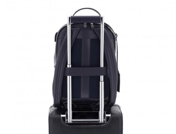 mochila de cuero azul trolley