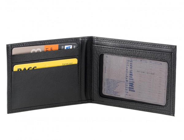 Leather credit card holder for men inside