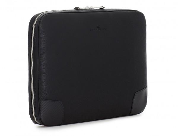leather portfolio in black side