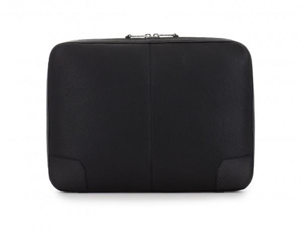 leather portfolio in black back