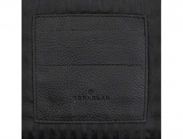 leather portfolio in black card holder
