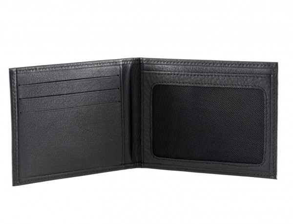 Leather credit card holder for men open
