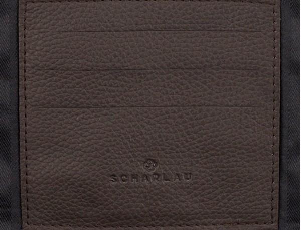 leather portfolio in brown card holder