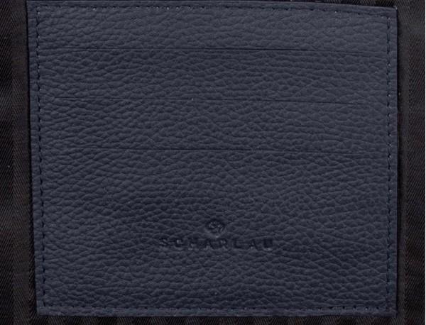 leather portfolio in blue funcional