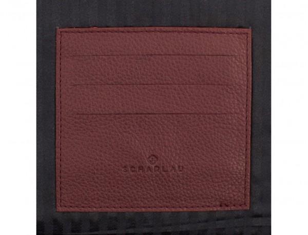 leather portfolio in burgundy functional