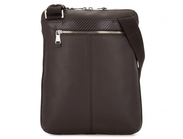 Leather cross body bag brown back