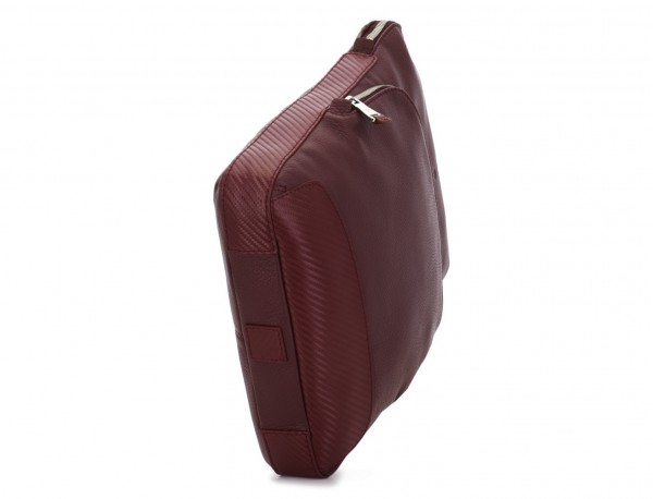 Leather cross body bag burgundy base