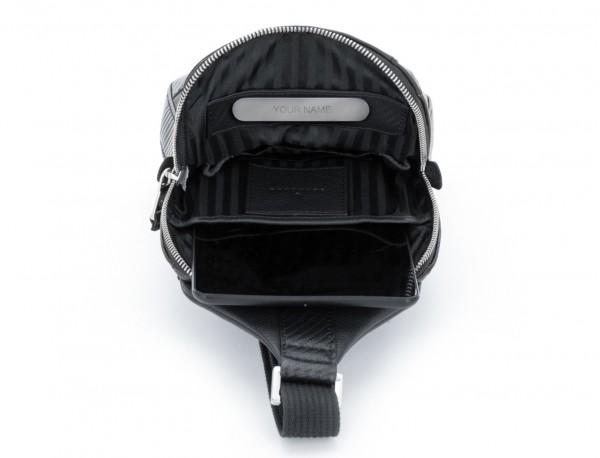 bandolera de cuero negra personalizada