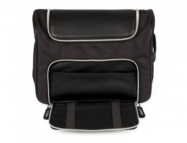 Large toilette bag in ballistic nylon front pocket