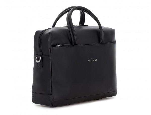 maletín grande de piel negro lado