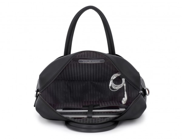 large leather briefbag in black inside