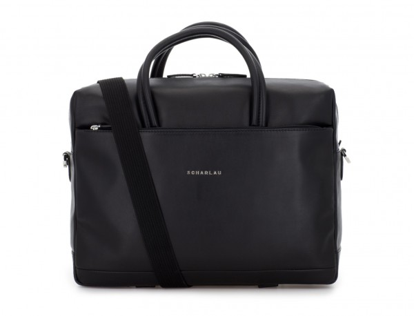large leather briefbag in black strap