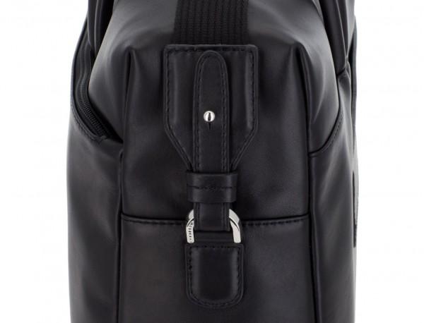large leather briefbag in black detail