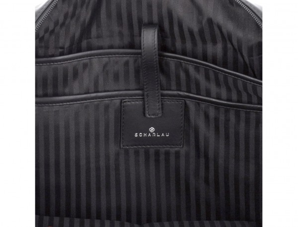 maletín grande de piel negro bolsillos