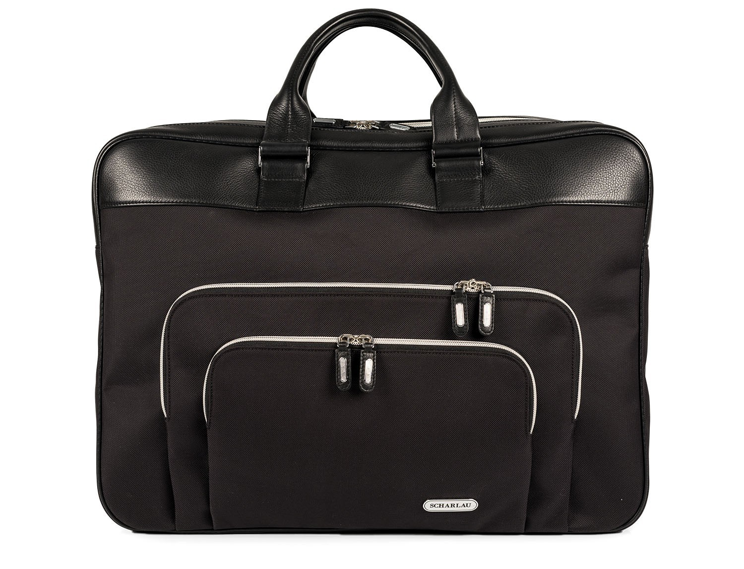 Large travelling bag in ballistic nylon cabin size front