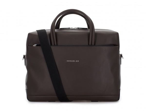 large leather briefbag in brown strap