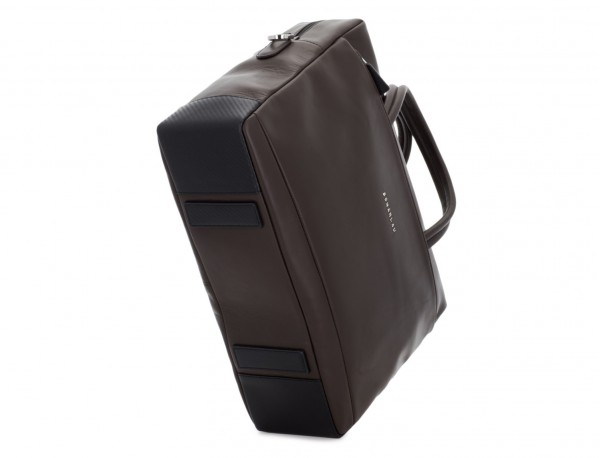 large leather briefbag in brown base